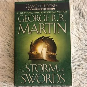 Game of thrones third book. A storm of swords.